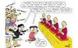 Thaksin makes merit in myanmarの画像