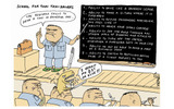 school for Thai taxi-drivers  cartoon by Stephffの画像