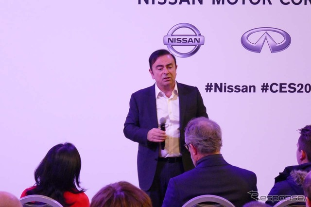 【CES 2017】日産、中国市場向けに低価格EVの投入も考慮中…ゴーンCEOnewsclip